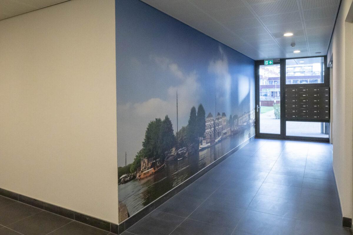 Panorama, Fotowand, Gouda, Groot formaat foto, Binnenhaven